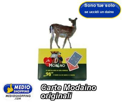 Carte Modaino originali