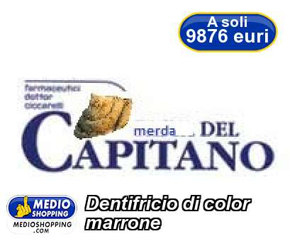 Dentifricio di color marrone