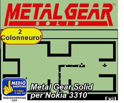 Metal Gear Solid per Nokia 3310